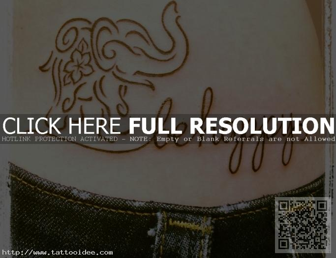 Happy Elephant Tattoo