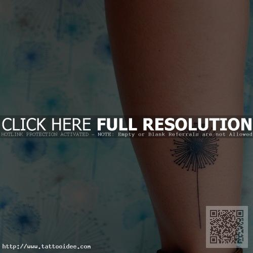 Stilisierte Pusteblume Tattoo
