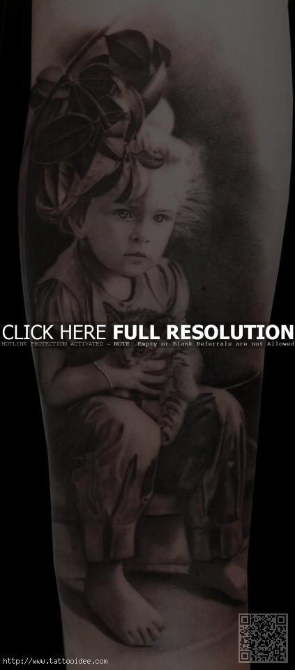 Kinderportrait Tattoo