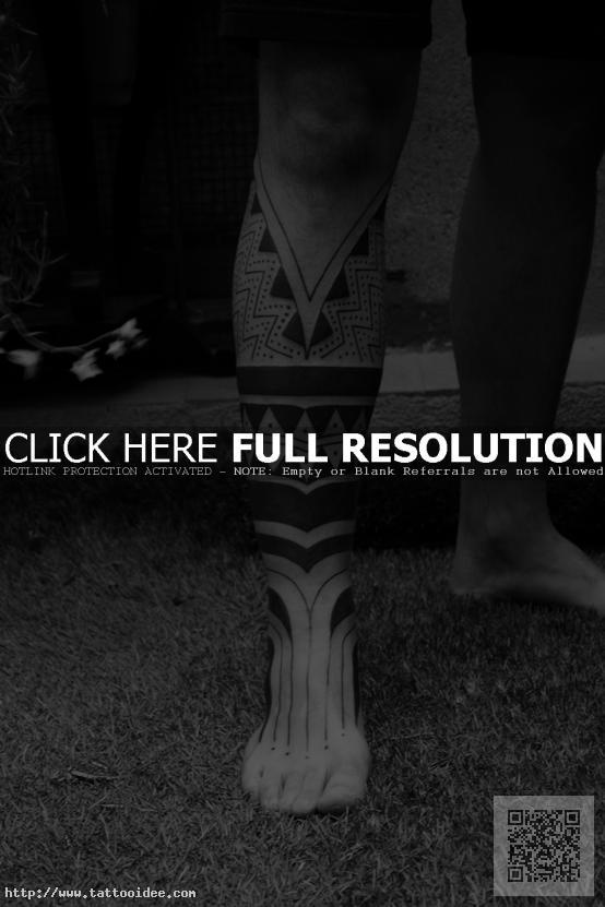Maori Schienbein Tattoo