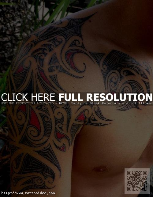 Maori Tattoo Arm Farbig Tattooideecom