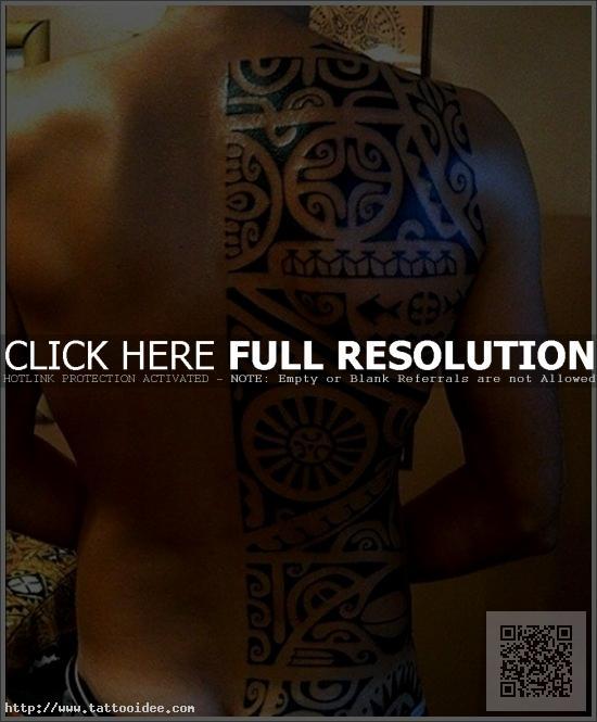 Maori Tattoo Halber Rücken