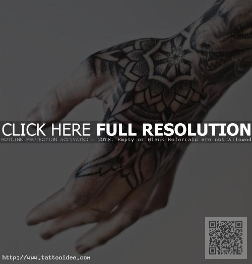 Dotwork Tattoo Hand