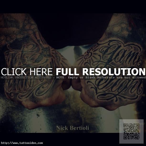 schrift tattoo hand tattooideecom