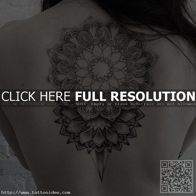 Rucken Tattoo Mandala Tattooidee Com