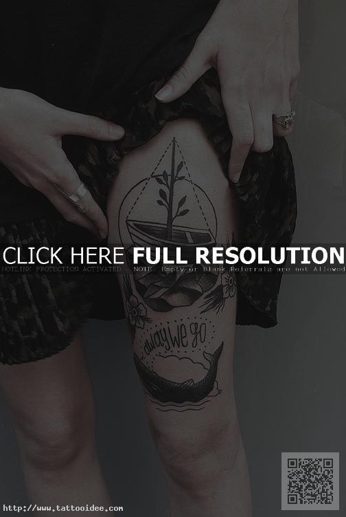 Oberschenkel frauen tattoo vorlagen Tattoo Oberschenkel