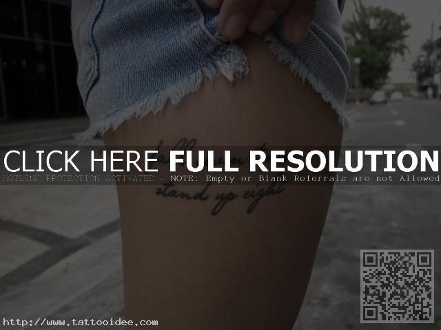 Schrift Tattoo Oberschenkel Tattooideecom